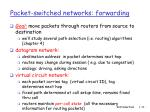 packet switched networks forwarding