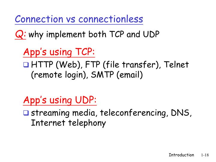 Connection vs