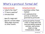 what s a protocol formal def