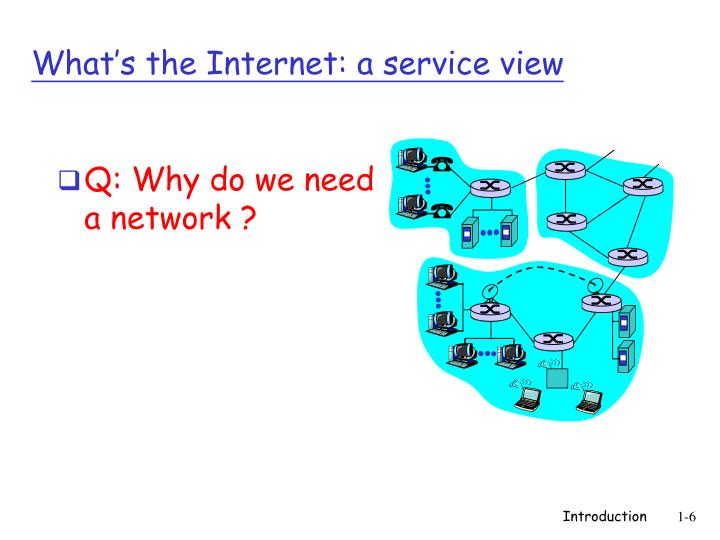 Q: Why do we need a network ?