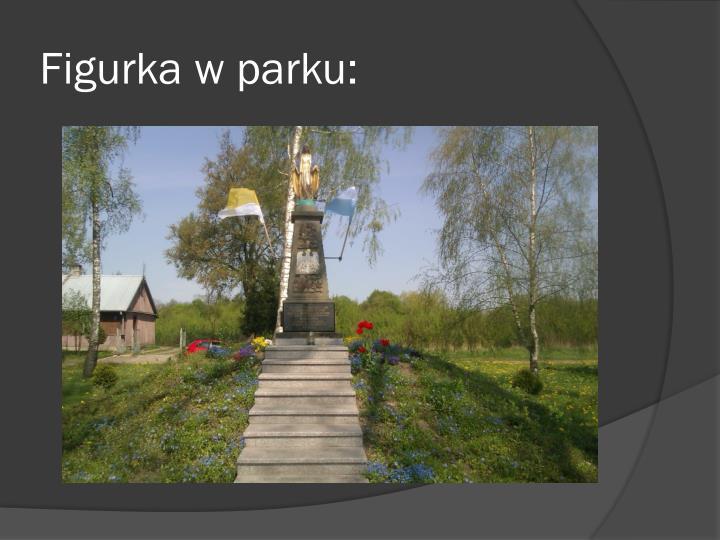Figurka w parku: