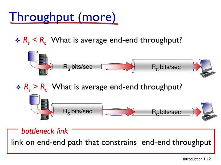 Throughput (more)