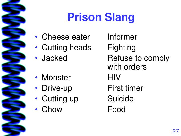 Prison Slang