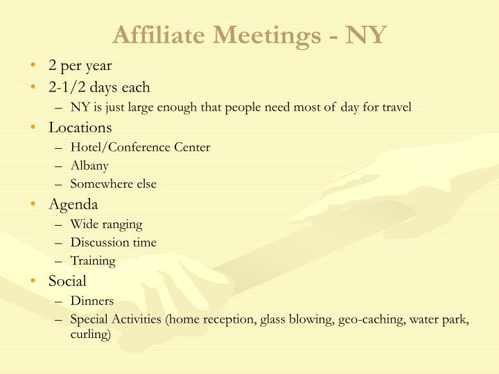 Affiliate meetings ny