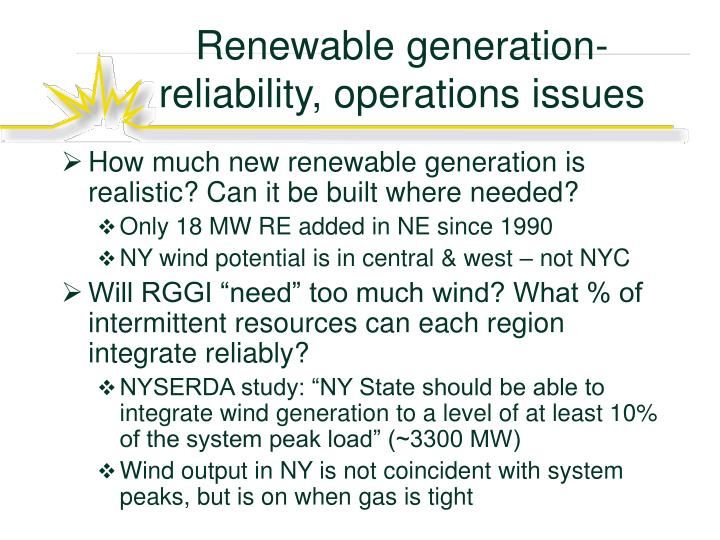 Renewable generation-