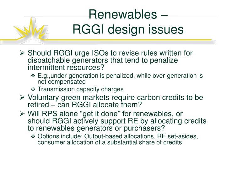 Renewables –