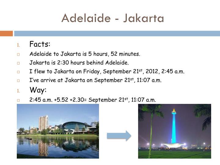 Adelaide - Jakarta