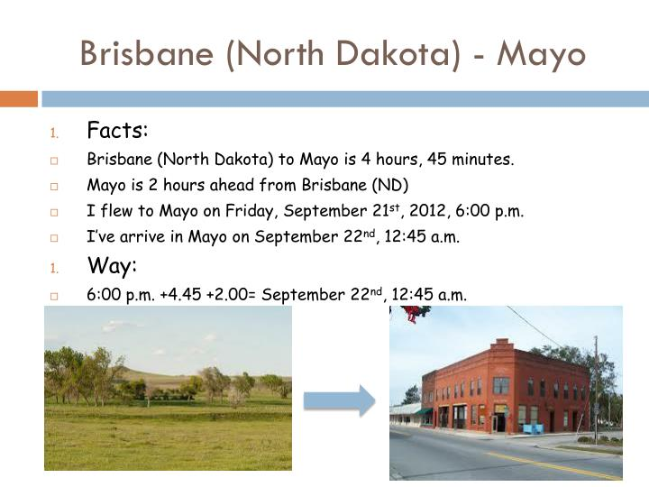 Brisbane (North Dakota) - Mayo