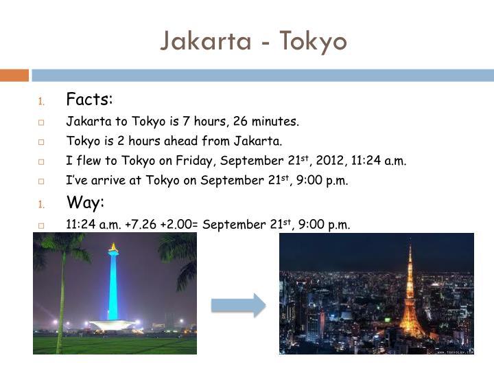 Jakarta - Tokyo