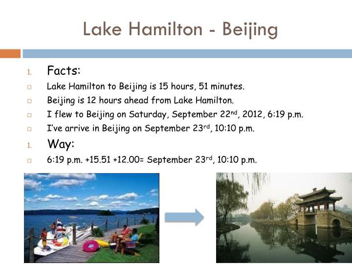 Lake Hamilton - Beijing