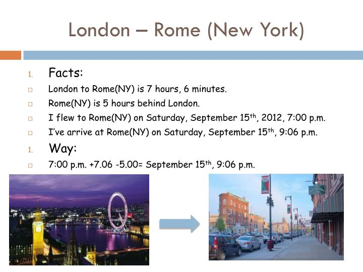 London – Rome (New York)