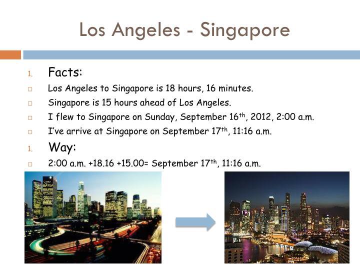 Los Angeles - Singapore