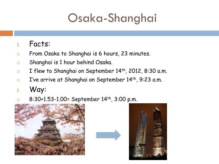 Osaka-Shanghai