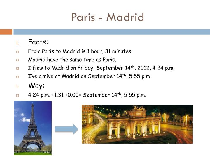 Paris - Madrid