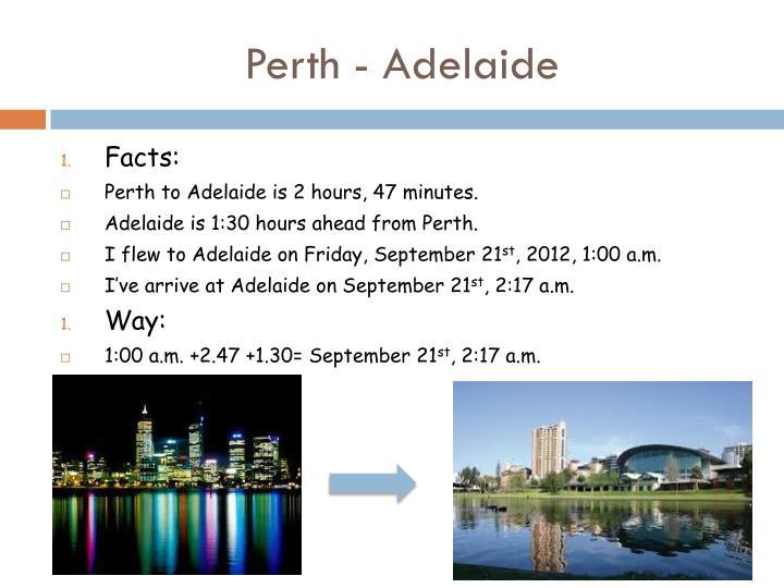 Perth - Adelaide