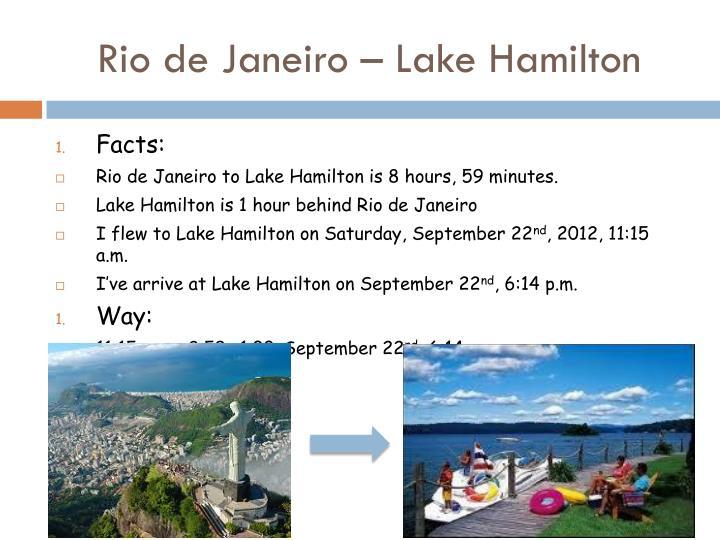 Rio de Janeiro – Lake Hamilton