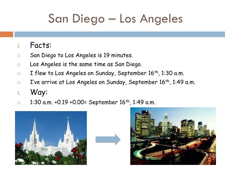 San Diego – Los Angeles