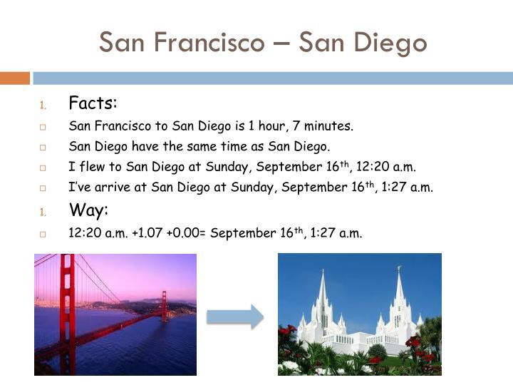 San Francisco – San Diego