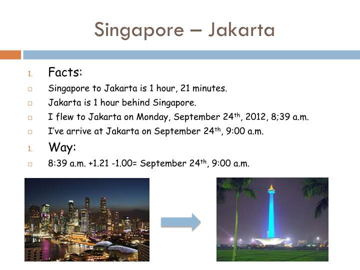 Singapore – Jakarta