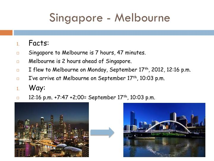 Singapore - Melbourne