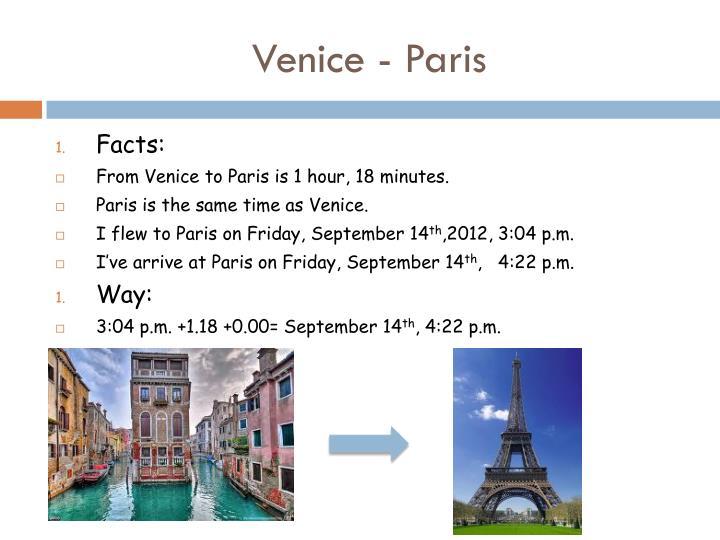 Venice - Paris