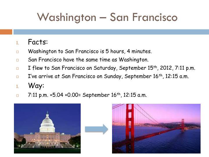 Washington – San Francisco