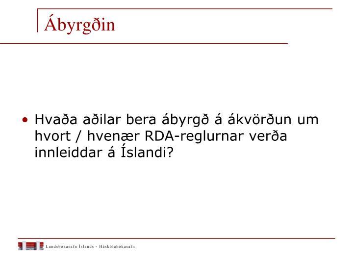 Ábyrgðin