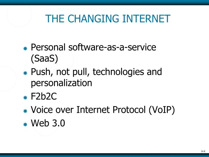 THE CHANGING INTERNET