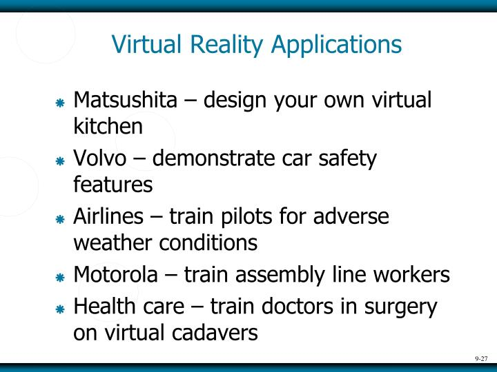 Virtual Reality Applications