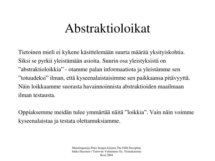 Abstraktioloikat