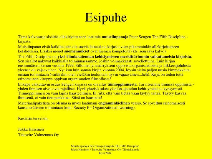 Esipuhe