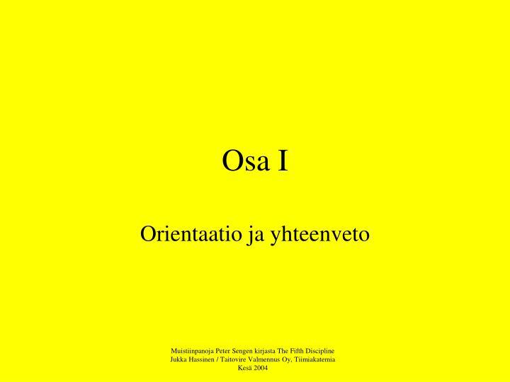 Osa I