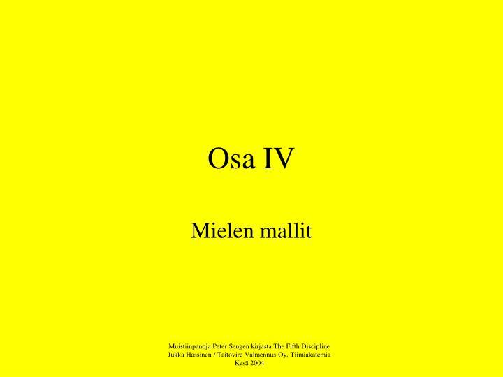 Osa IV