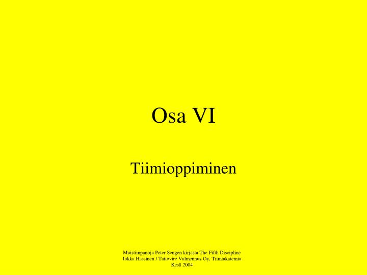 Osa VI
