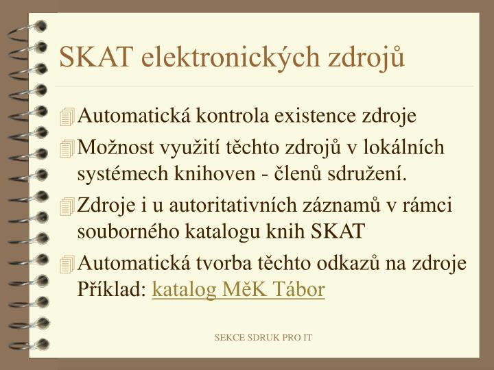 SKAT elektronických zdrojů