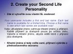 2 create your second life personality