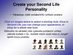 create your second life personality2