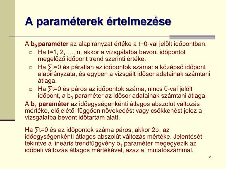 A paraméterek értelmezése
