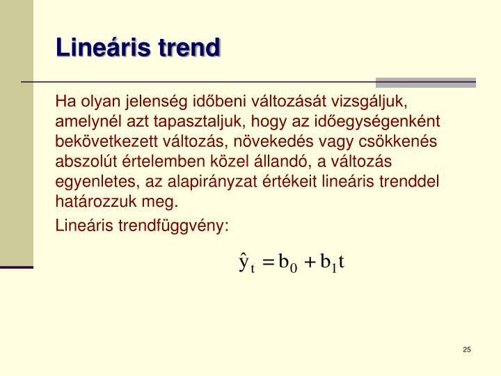 Lineáris trend