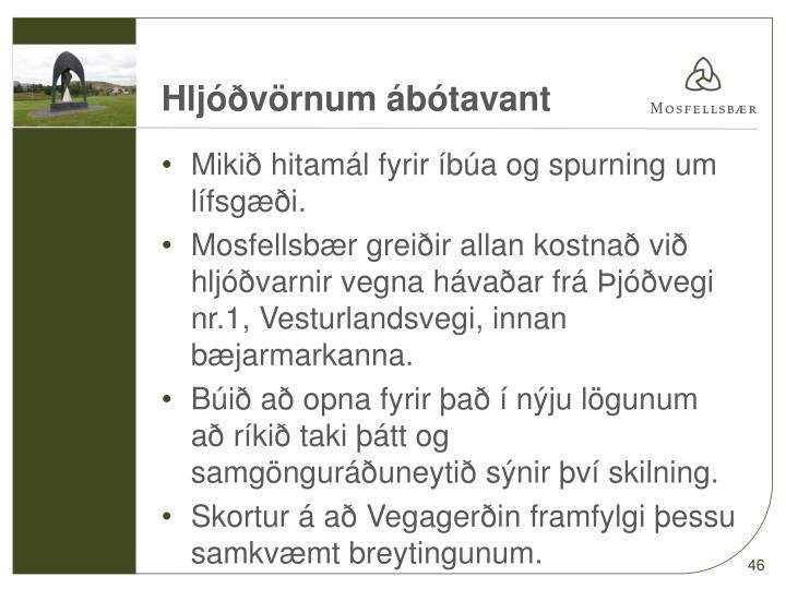 Hljóðvörnum ábótavant