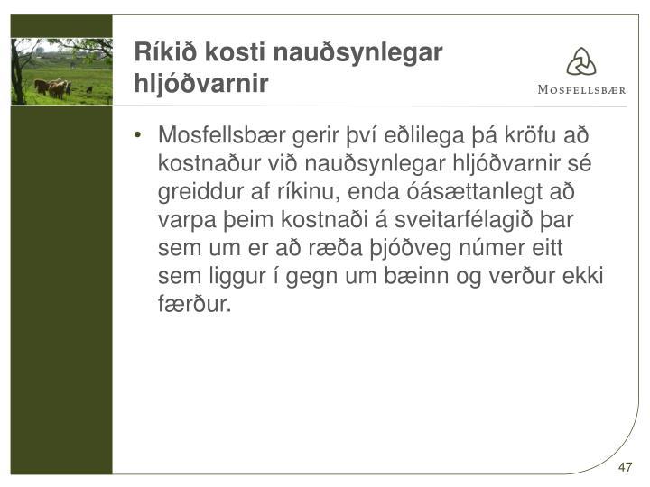 Ríkið kosti nauðsynlegar hljóðvarnir