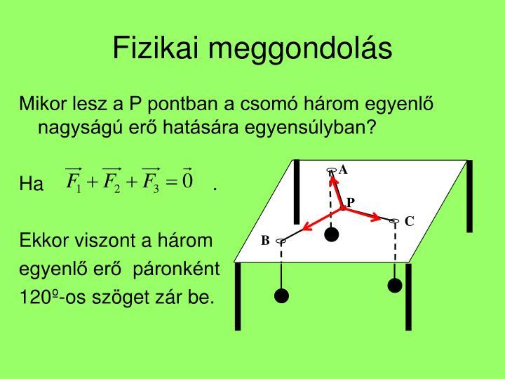 Fizikai meggondolás