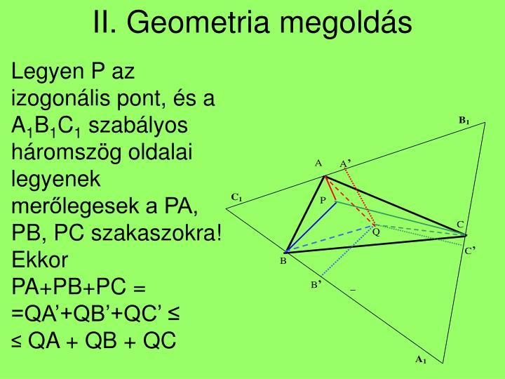II. Geometria megoldás