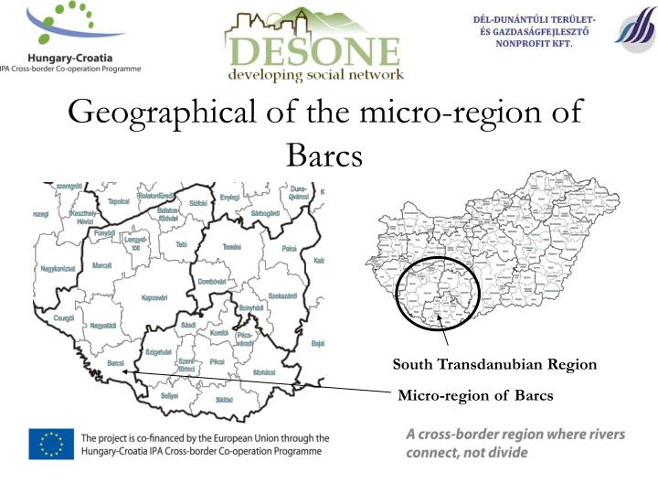 Geographical of the micro-region of Barcs