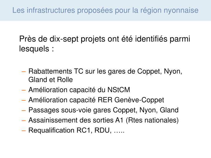 Près de dix-sept projets ont été identifiés parmi lesquels :