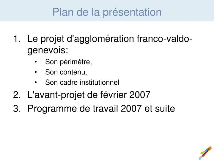 Le projet d'agglomération franco-valdo-genevois:
