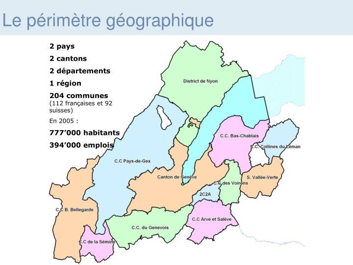 Le périmètre géographique