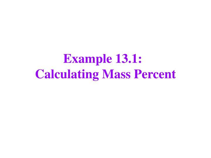 Example 13.1: