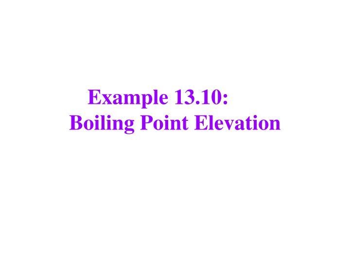 Example 13.10: