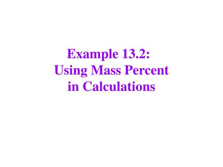 Example 13.2: